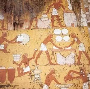 Egyptian bread baking