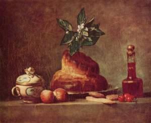 Chardin, Still Life With Brioche