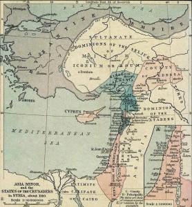 Crusader States Map