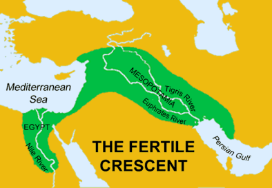The Fertile Crescent, where agriculture and civilization began